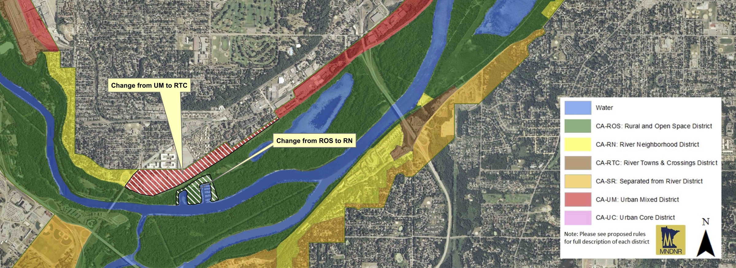 New land-use districts better reflect today's riverfront communities.