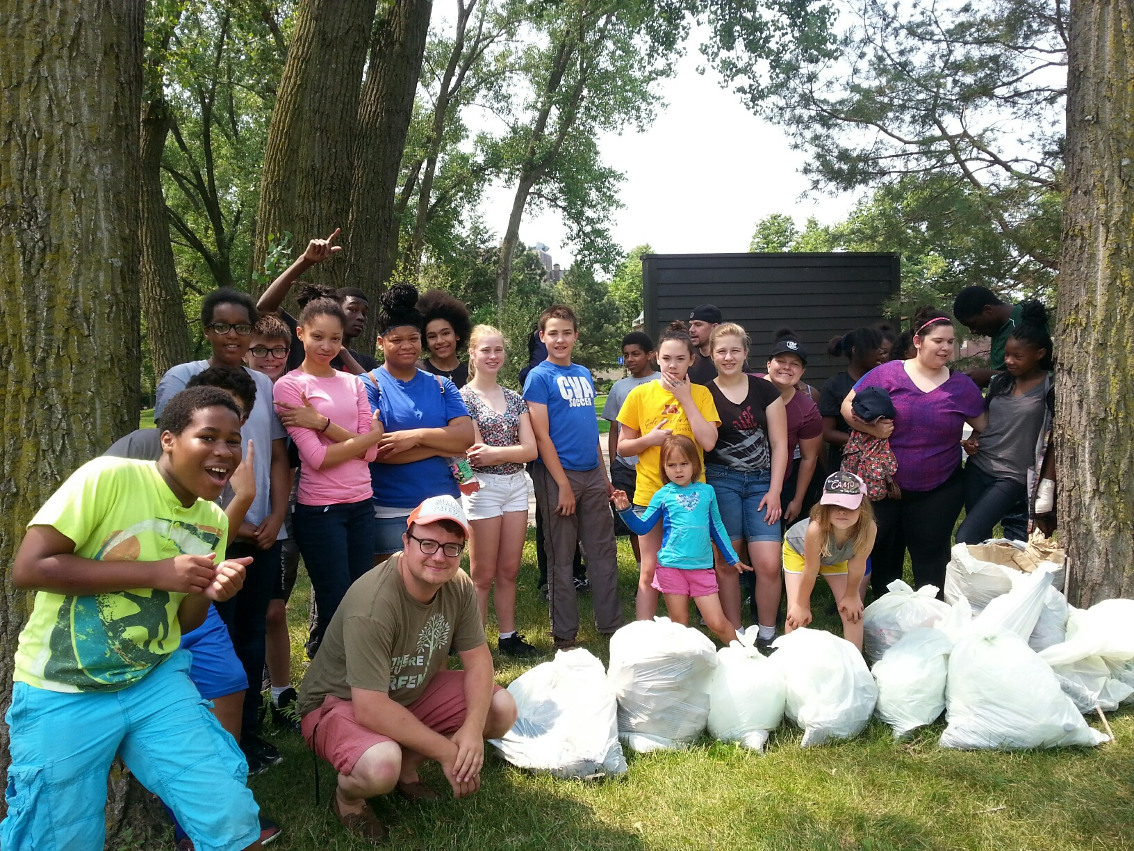 Local church groups cleans up the river!
