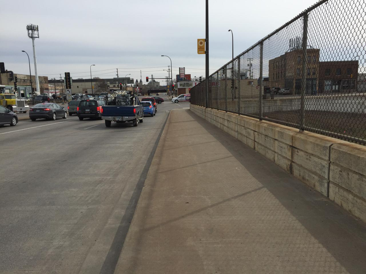 Bike and pedestrian conditions on the West Broadway I-94 bridge