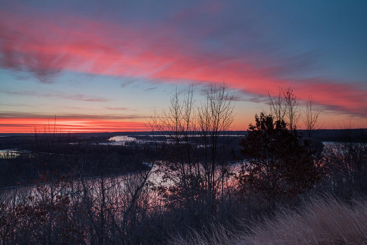 Morning Color over Pine Bend by Tom Reiter