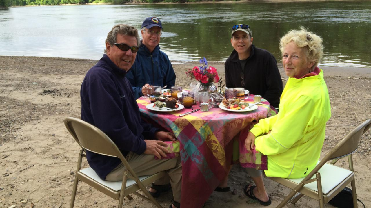 A riverfront lunch with FMR's executive director