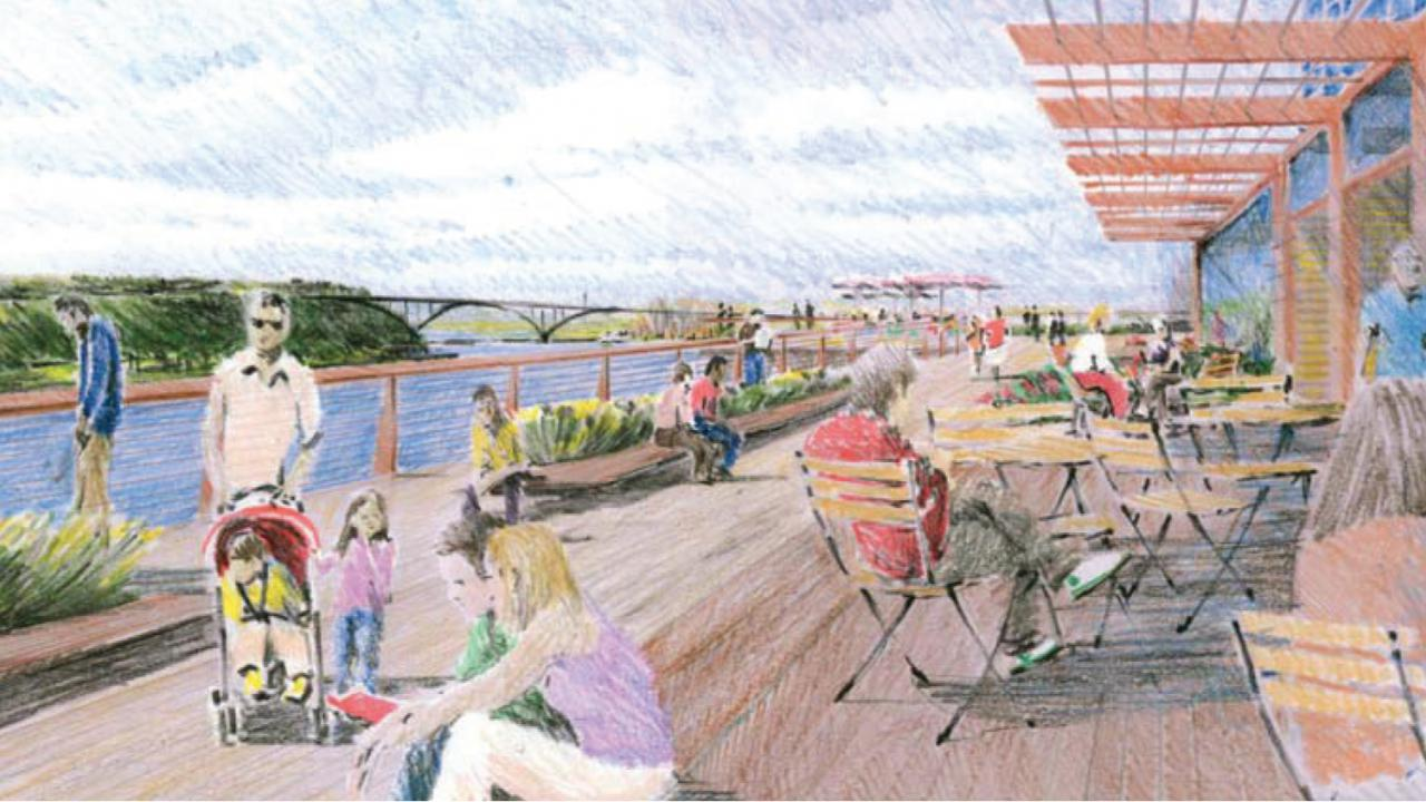 Saint Paul River Balcony rendering from the Great River Passage Plan