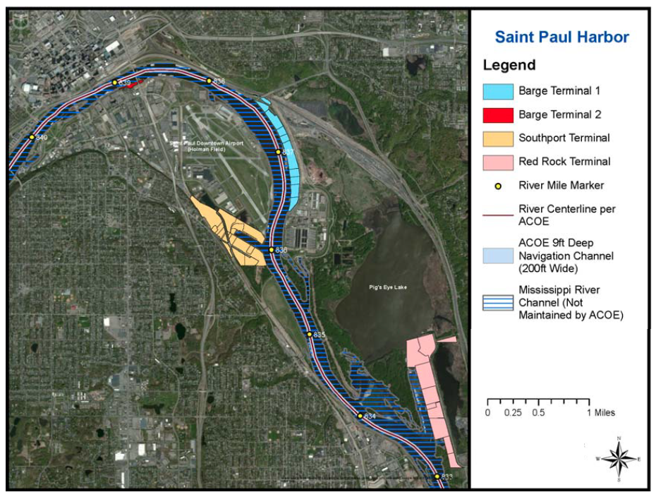 St. Paul Port Authority Barge Terminal map