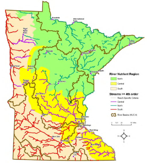 Streams and Rivers of Minnesota