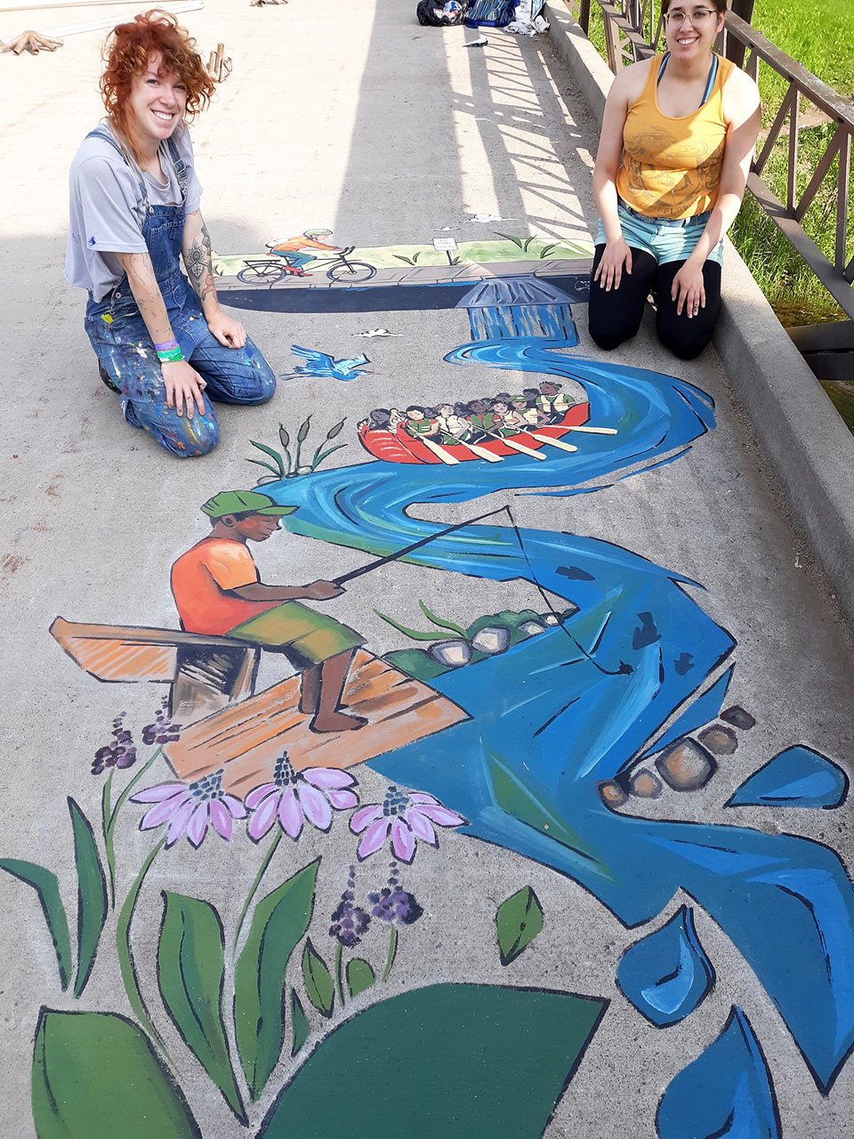 Mural at Lake Phalen