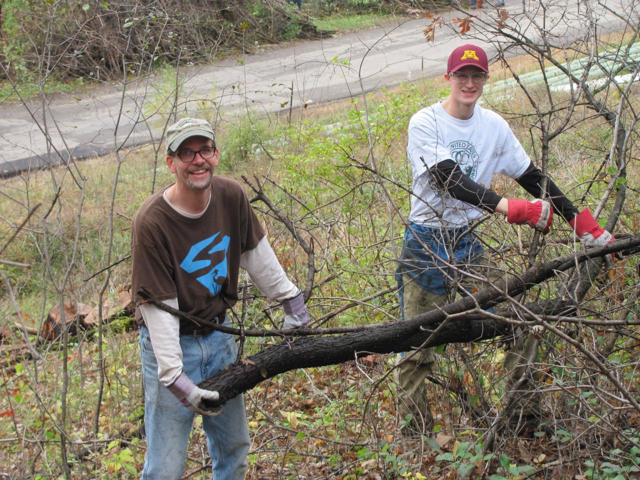 Pine Bend brush haul volunteers