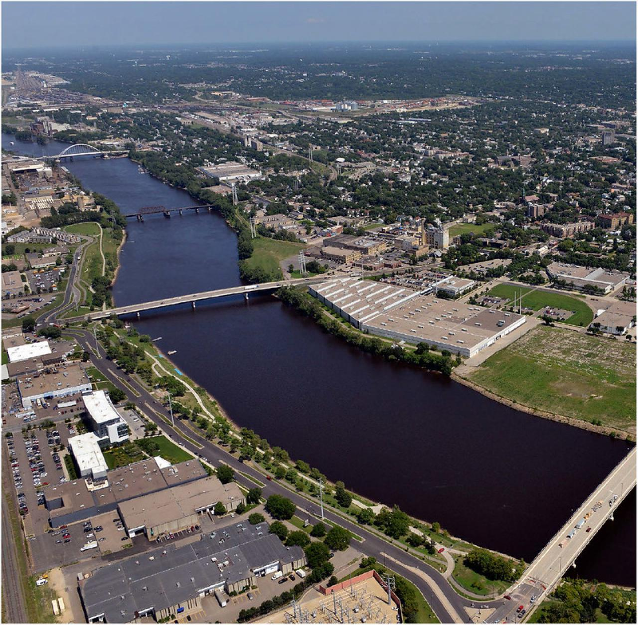 The riverfront in north and northeast Minneapolis