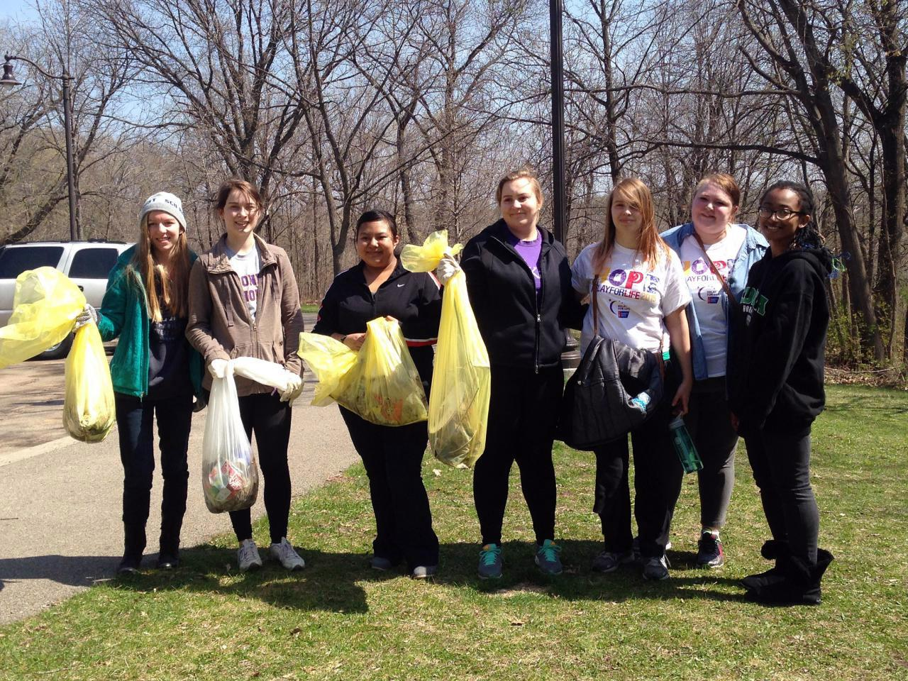 Earth Day cleanup participants