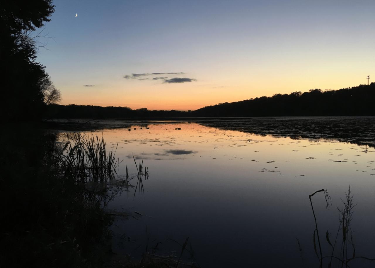 Crosby Lake at sunset