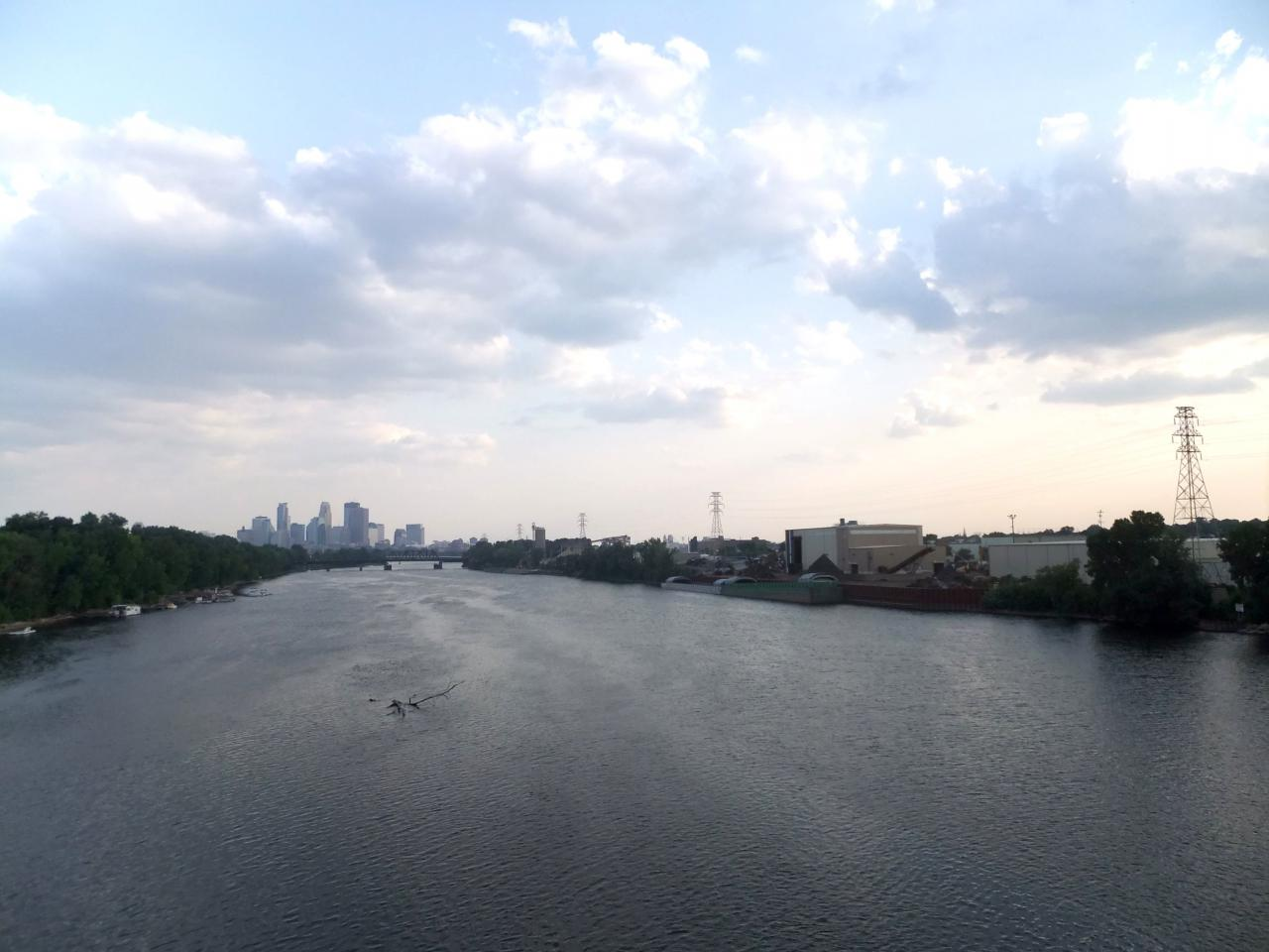 The view from the Lowry Bridge looking south to downtown Minneapolis.