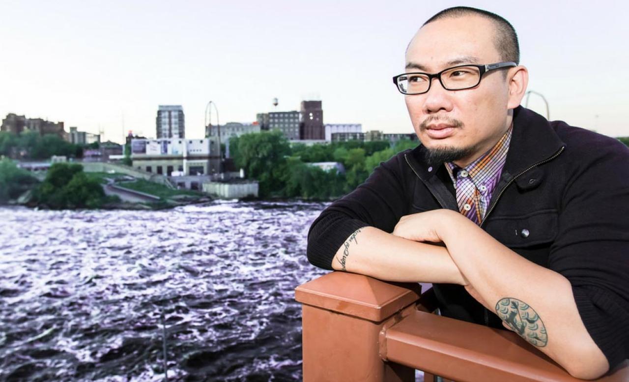 Minneapolis-based poet, Bao Phi.