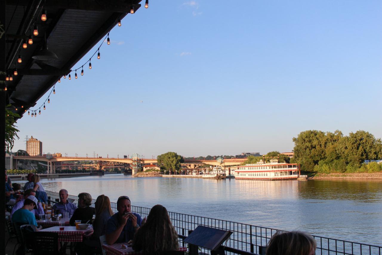 Riverfront patio