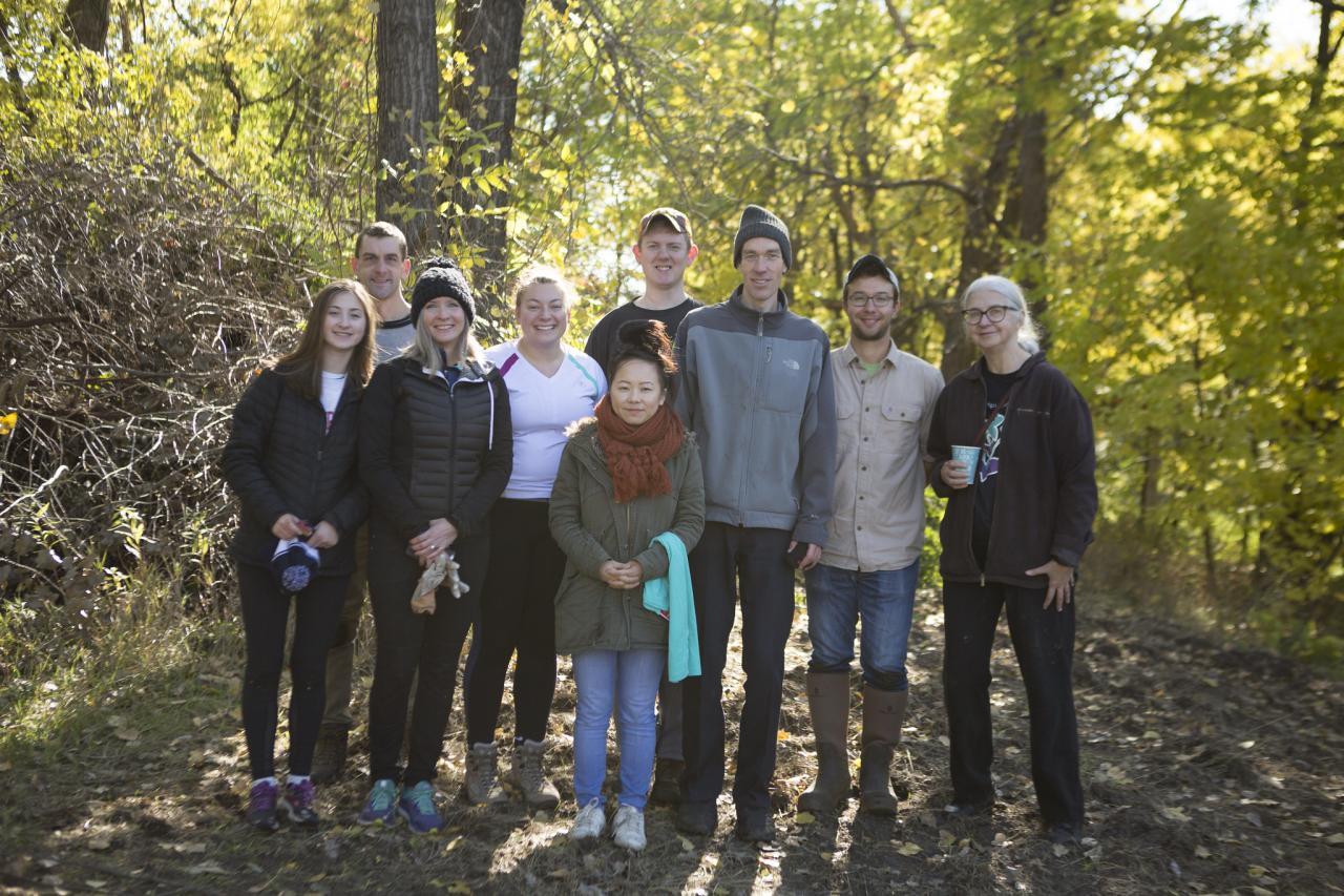 Volunteers on Nicollet Island