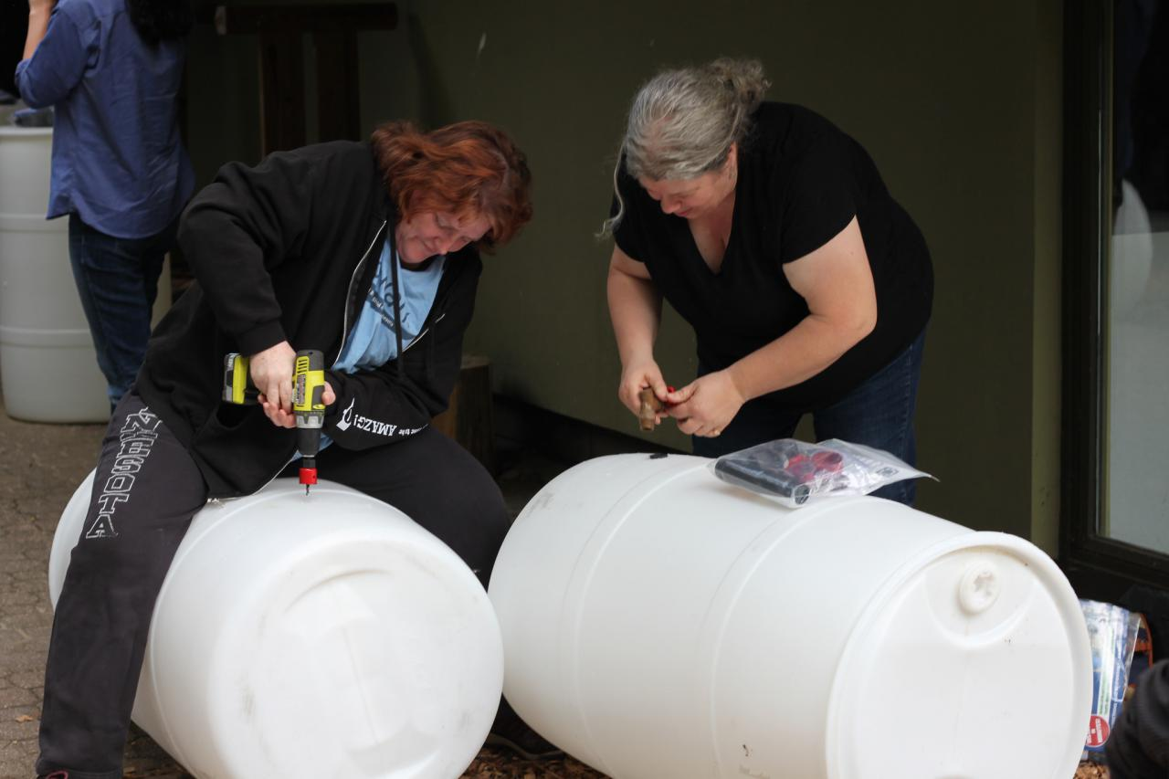 Building a rain barrel
