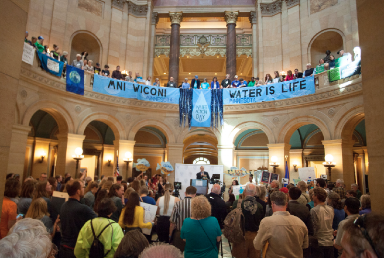 Water Action Day fills the Capitol rotunda with a rally for clean water