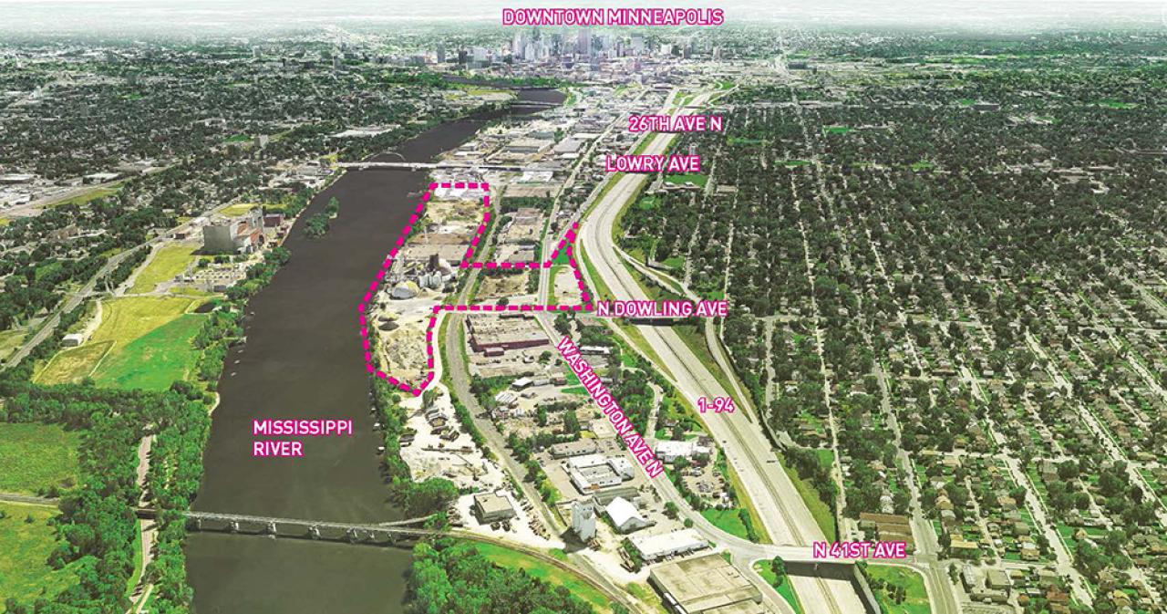 Minneapolis's Upper Harbor Terminal redevelopment site.