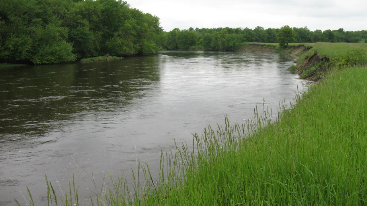 The Mississippi River runs along the southern edge of the Houlton Farm property, and the islands of the Mississippi River Islands SNA (left) already provide important protected habitat in the area.