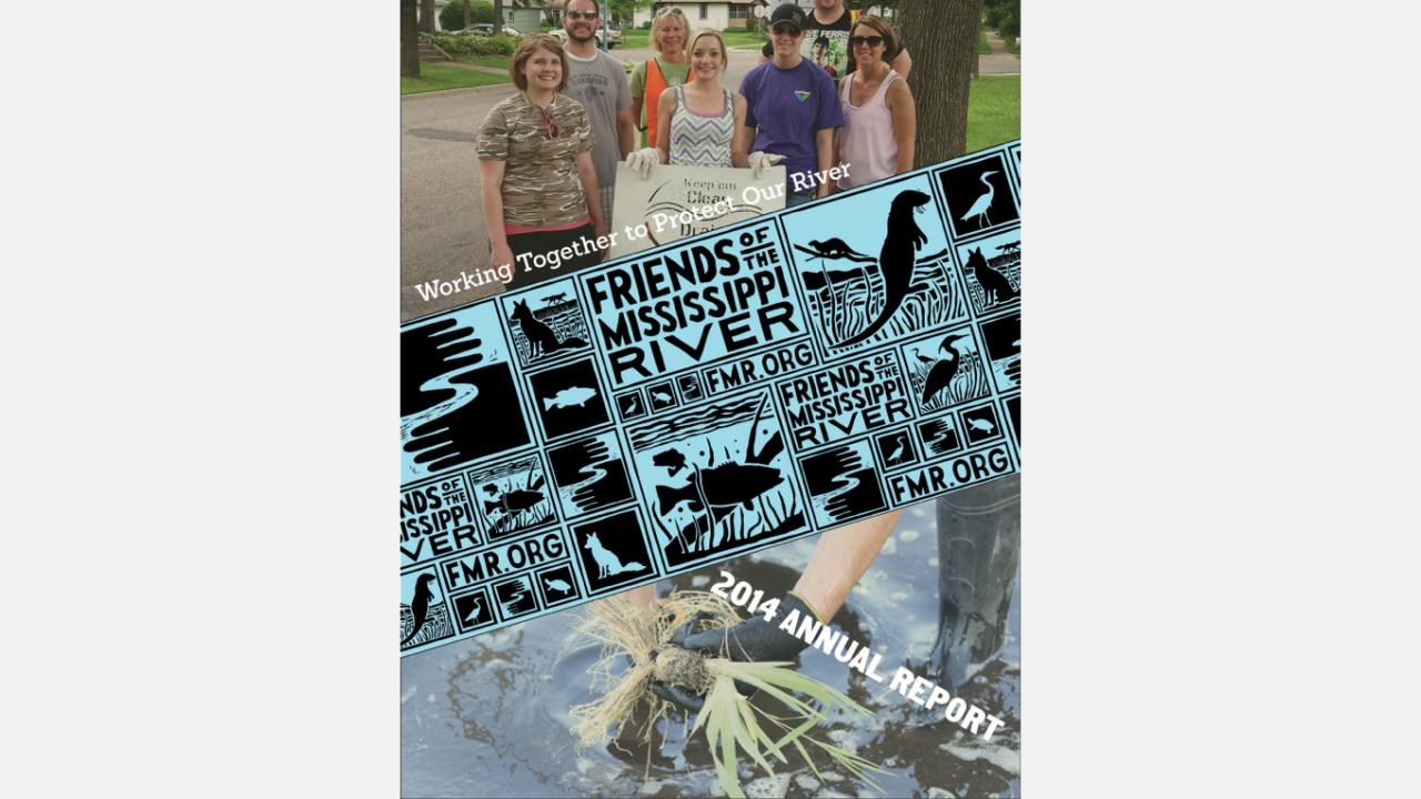 Friends of the Mississippi River 2014 Annual Report cover
