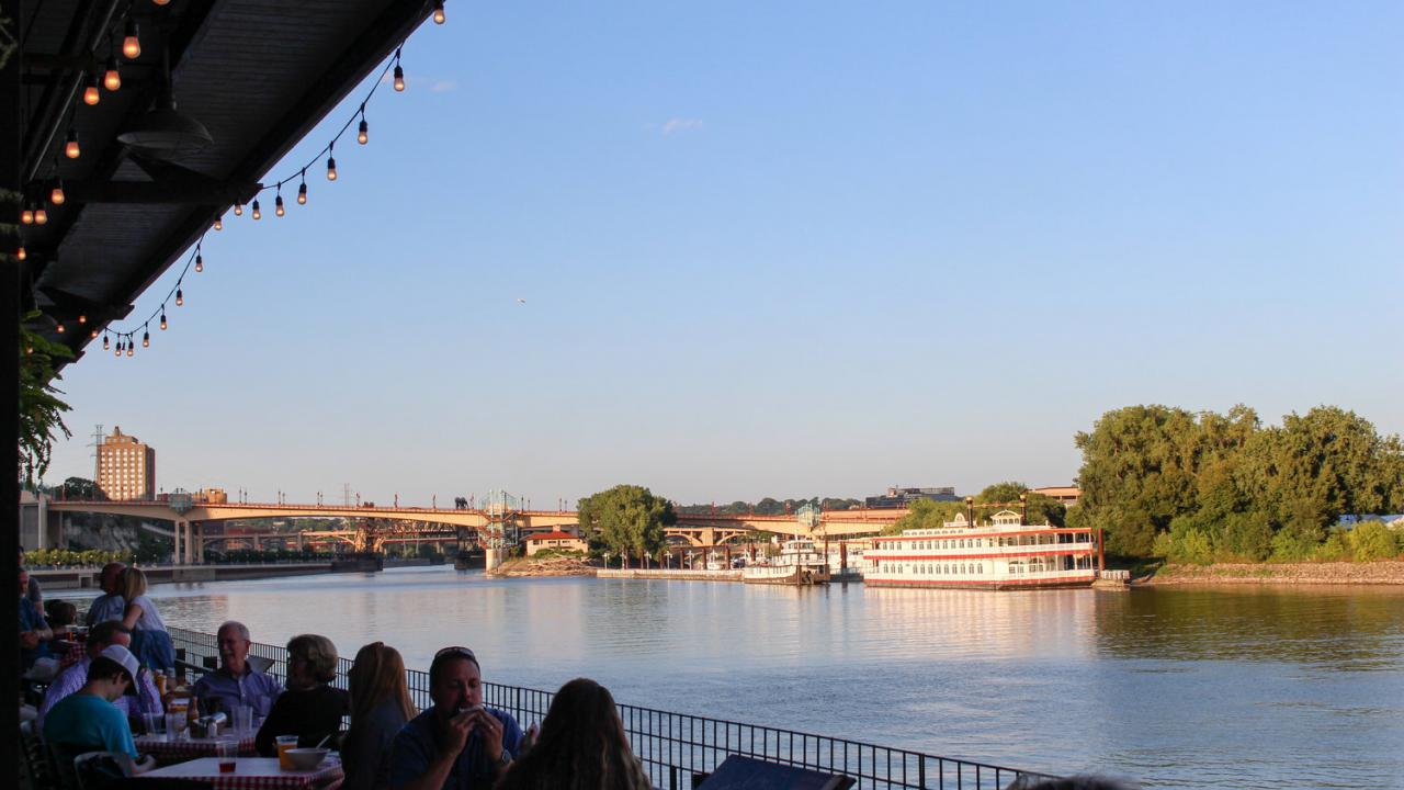 Riverfront patio