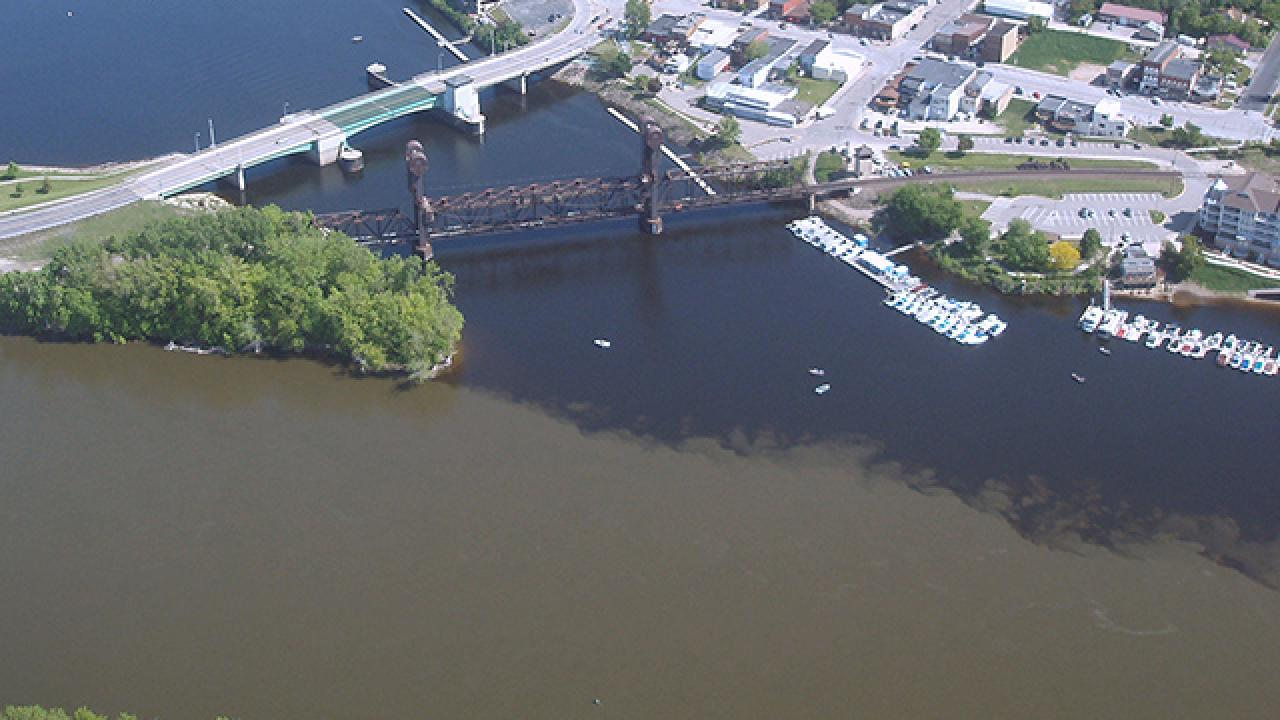 Mississippi River meets the St. Croix River