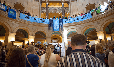 Water Action Day in the Capitol rotunda